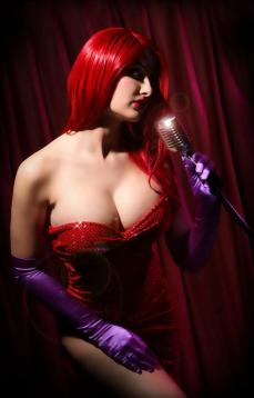 Dana Baby Lou as Jessica Rabbit in Real Life