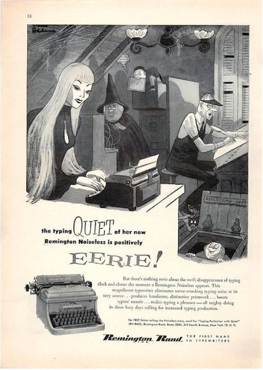 Charles Addams, Remington Typewriter Ad for The New Yorker (March 1955)
