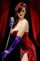 Sammie Sam is Gorgeous as Jessica Rabbit