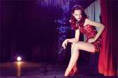 Sasha Pivovarova does 40's Femme Fatale Siren Jessica Rabbit