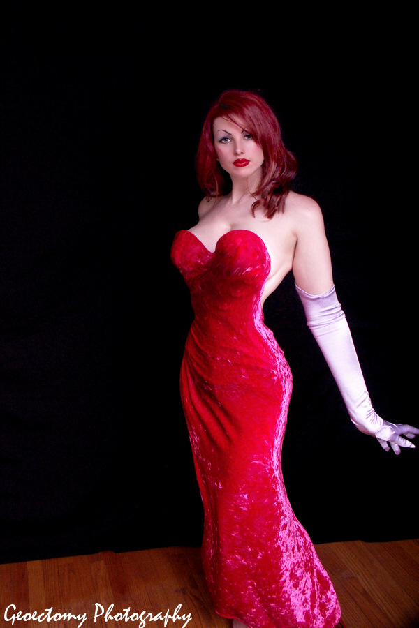 Sexy jessica rabbit dress
