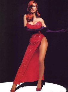 Hot Heidi Klum as Real Life Jessica Rabbit