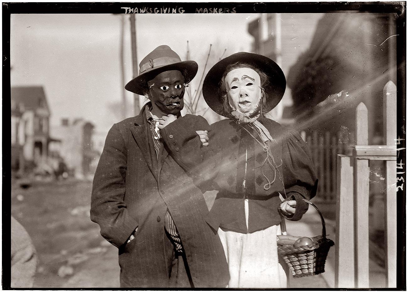 silent sundays thanksgiving masks 1911 the year of. Black Bedroom Furniture Sets. Home Design Ideas