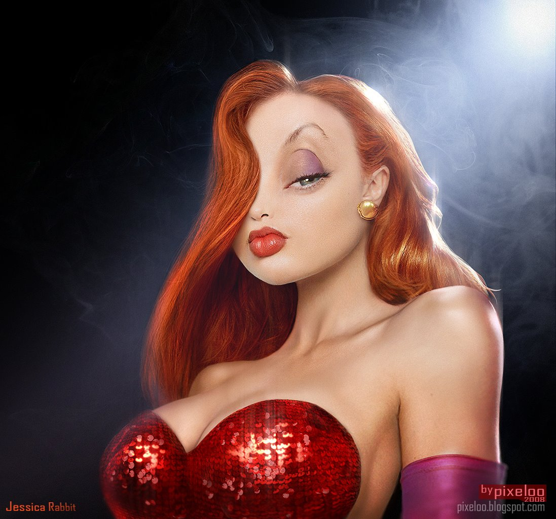 Thinking Costume Jessica Rabbit Original Ginger
