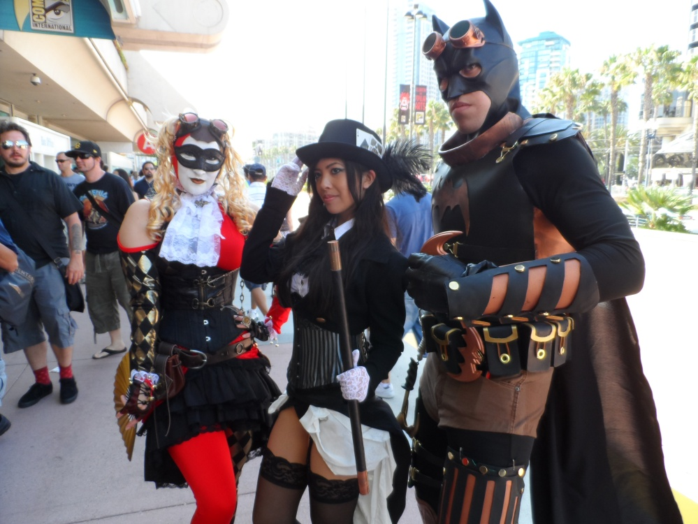 Steampunk Batman Universe Cosplay at 2012 SDCC Comic Con Photographed by Eva Halloween