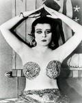 """Theda Bara wears a risque costume known as """"a dare"""""""