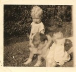 Vintage Dog and Ghost Babies