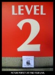 "Point values for this target: 3 Points for any sign with a ""2""; 5 Points for any sign with ""Level""; 7 Points for a sign with ""Level 2."""