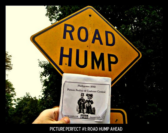 """Point values for this target: 3 Points for any yellow road sign; 5 points for any """"bump"""" sign (speed bump, etc); 7 Points for """"road hump"""" sign."""