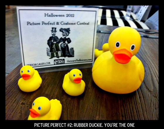 Point values for this target: 3 Points for any rubber ducky; 5 Points for a plain yellow rubber ducky; 7 Points for multiple yellow rubber duckies in picture.