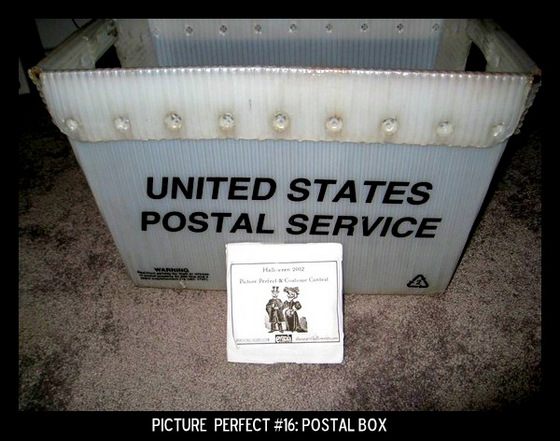 Point values for this target: 3 Points for any type of box with a letter inside; 5 Points for a Postal Service box.