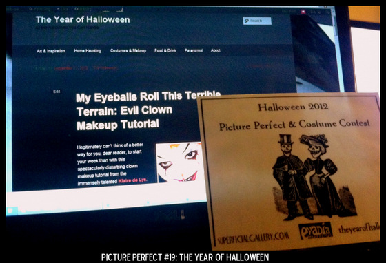 Point values for this target: 3 Points for The Year of Halloween Home Page; 5 Points for Scary Clown Makeup Tutorial with The Year of Halloween banner visible.