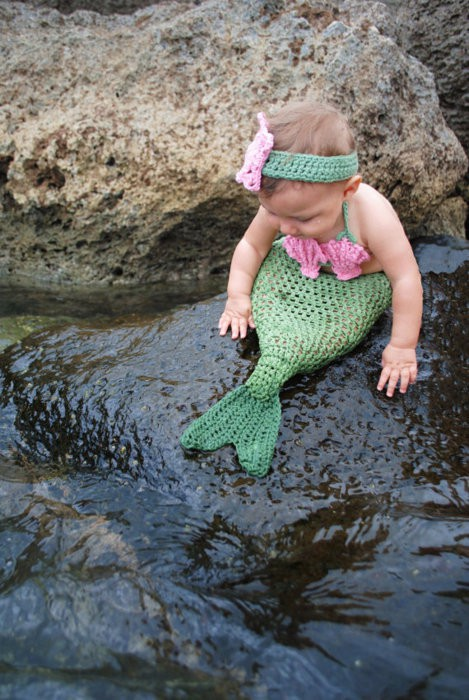Crocheted Baby Mermaid