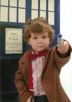 Baby Dr. Who by Amy E. via Fashionably Geek