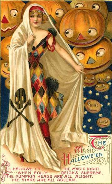 Vintage Halloween Postcard The Magic of Halloween