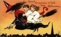vintage-halloween-witch-broomstick-boy-girl