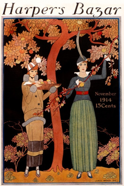 Preparing for the feast… George Barbier, November 1914