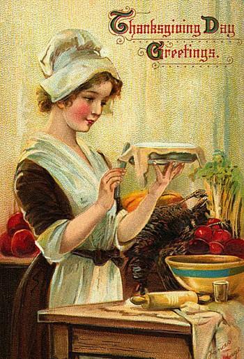 vintage thanksgiving art