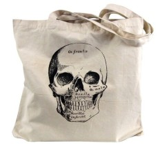 Anatomical Skull Tote Bag by theboldbanana Etsy shop