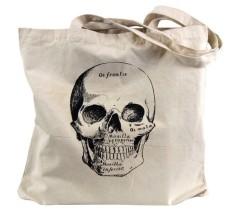 Anatomical Skull Tote Bag by theboldbanana Etsy shop