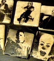 Horror Villians Coasters via Etsy by Bazooka Jen