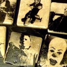Horror Villians Coasters via Etsy by Bazooka Jen