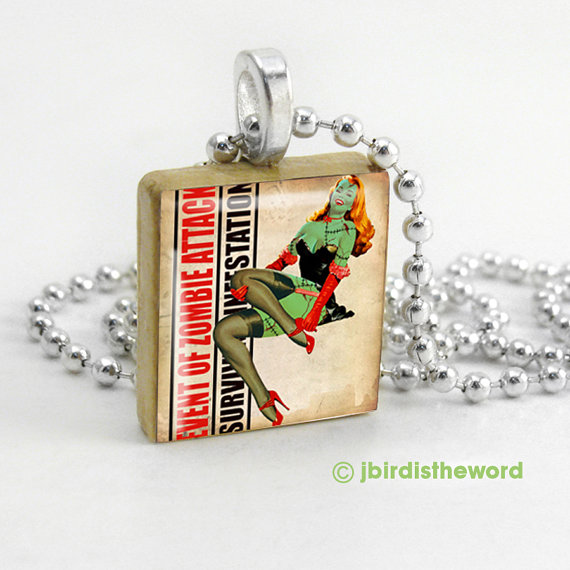 Toxic beauty scrabble tile pendant from for Diy scrabble costume