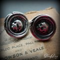 Wax Seal Skull Cufflinks via Etsy by PlumandPoseyInc