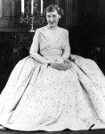 1953 Mamie Eisenhower in inaugural gown