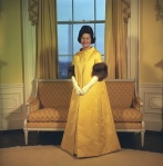 1963 Lady Bird Johnson with coat