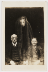 """Couple with Young Female Spirit."""" From The Spirit Photographs of William Hope, (1863-1933)"""