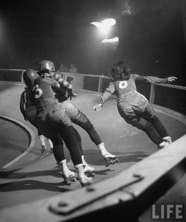 1948 Life Magazine Roller Derby Girls via The Selvedge Yard