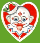 Clown  Vintage Valentine