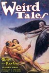 Cover of Weird Tales (May 1934), feature story is Robert E. Howard's Queen of the Black Coast.  Cover Art M Brundage