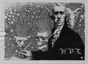 HP Lovecraft (1937) by Virgil Finlay via Atelier Coulthart