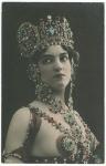 Unnamed model on postcard by Reutlinger Photography of France.