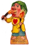 Vintage Mechanical Fire Eater Valentine