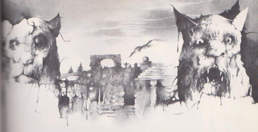 Stephen Gammell Art for Halloween Poems, Holiday House 1989, via Razorwire Pictures