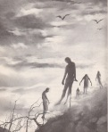 Stephen Gammell Illustration for Meet the Vampire, J.B. Lippencott 1979 via Razorwire Pictures