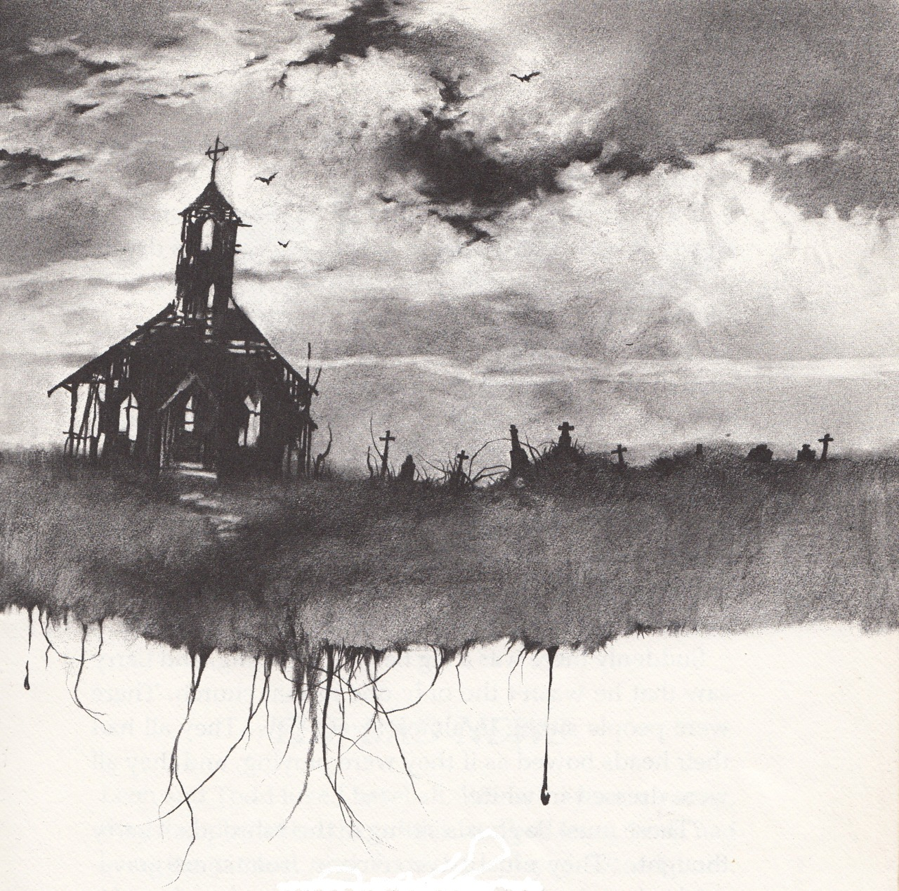 stephen gammell illustration for more scary stories to tell in the   stephen gammell illustration for more scary stories to tell in the dark the church