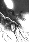 Stephen Gammell Illustration for The Great Dimpole Oak, 1987, Puffin