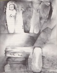 Stephen Gammell Illustrations for Ghosts, J.B. Lippencott 1976 via Razorwire Pictures