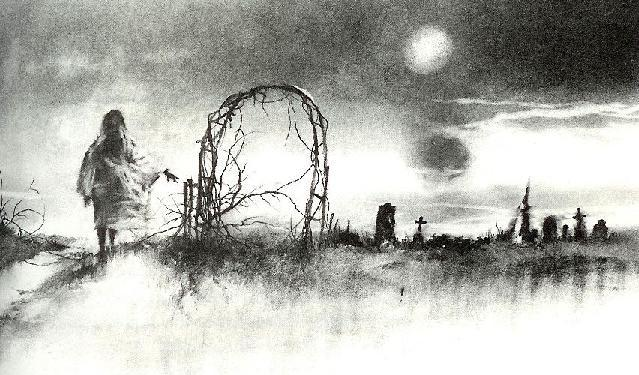 Stephen Gammell scary illustration