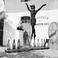 Bianca Passarge at Weinkeller zur Schwarzen Katz, photographed by Carlo Polito, 1958