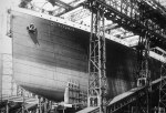 Bow of the Titanic Under Construction Pictured c. 1910