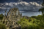 Derelict Comet Rollercoaster in Lincoln Park, Massachusetts, abandoned 1987.  via psfk