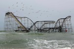 Seaside Heights, New Jersey, US: Remnants of the Jet Star roller coaster