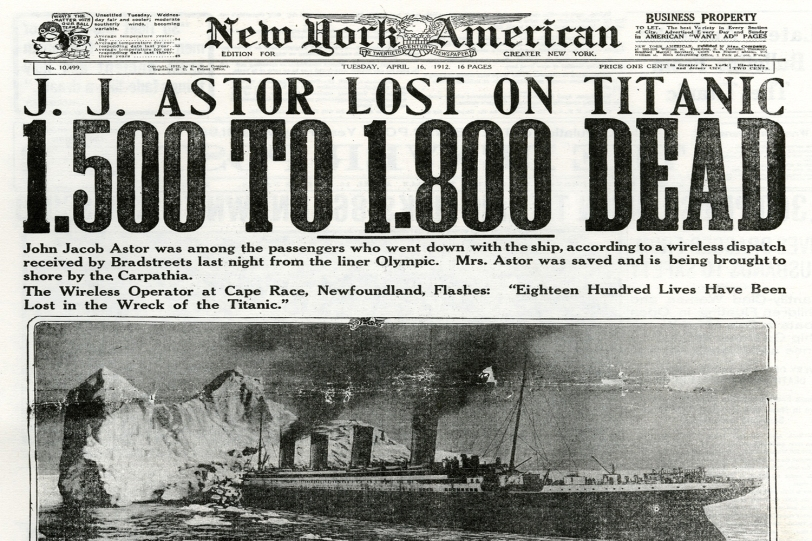 Titanic Headlines New York American
