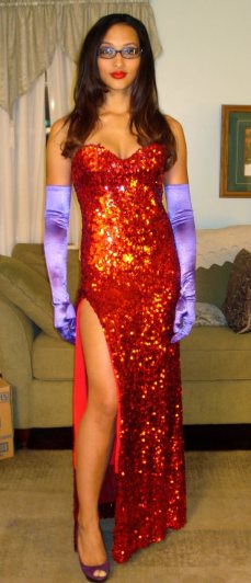 Aliya as Jessica Rabbit via GeeksAreSexy