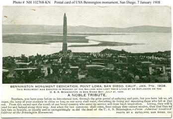Bennington Monument Dedication, Point Loma, Jan 7 1908